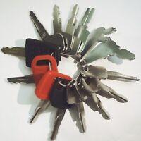 14 Keys Heavy Equipment / Construction Ignition Key Se CAT Case Bobcat JCB JD