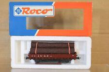 Roco HO Wagon SNCF plat À ranchers avec grumes