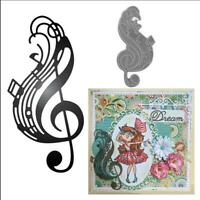 Craft Metal Cutting Dies musical note Scrapbooking Album DIY Craft Embossing