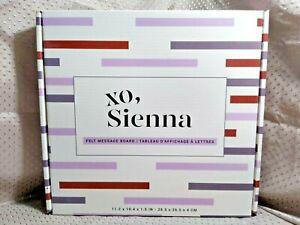 "XO, Sienna Felt Message Board 189 Letters, Number, Symbols 11.2"" x 10.4"" x 1.5"""
