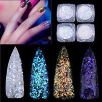 Holographic AB Nail Art Glitter Shell Flakes Mermaid Mirror Powder Paillette~
