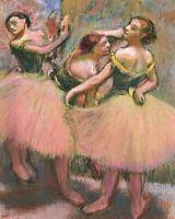 Three Dancers Edgar Degas Ballerina Print Giclee Repro Painting CANVAS 8x10 SM
