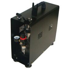 Paasche Dual Head Compressor with Tank, Case, Regulator & Airbrush Holders