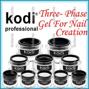 Kodi Professional Three-Phase Gel For Nail Creation + Present Kodi Nail File
