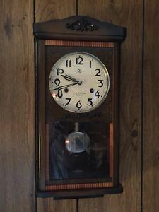 Vintage Rare  Aikosha  30 Day Chime Wall Clock           Japan