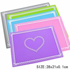 Portable Nail Art DIY Manicure Silicone Table Mat Washable Pad Heart Cushion 66