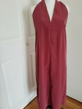 Women Sleeveless Deep V-Neck Back Twisted Midi Dress  Prologue Size M Dusty Pink