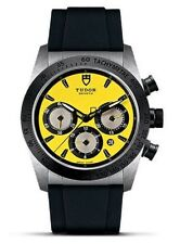 100% AUTHENTIC NEW TUDOR FASTRIDER CHRONO YELLOW DIAL WATCH 42010N-0007
