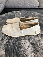 TOMSNEU Damen Schuhe Halbschuhe Textil Cabrillo Freizeit Leinen Grau Grey