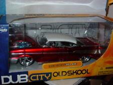 JADA 1957 57 CHEVROLET CHEVY BEL AIR CHOP TOP -Red/White, OLD SKOOL 1/24 -NICE!