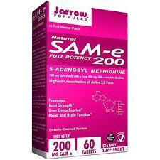 Natural SAM-e 200, 200 mg, 60 Enteric-Coated Tablets - Jarrow Formulas