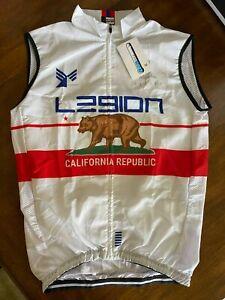 L39ION Cycling Team Jersey Rain Wind Vest SZ M Legion of Los Angeles California
