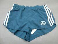 ADIDAS SIZE M WOMENS BLUE ATHLETIC LINED FITNESS RUNNING GYM SHORTS 841