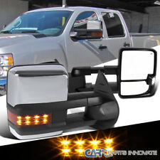 07-13 Silverado Sierra Facelift Style Power Heated LED Signal Towing Mirrors L+R
