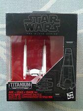 Star Wars Black Titanium Kylo Ren Comm Shuttle & 'Hot Wheels 1st Order TIE Lot