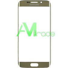 vetro vetrino per Samsung Galaxy S6 EDGE G925 G925F GOLD ORO touch screen