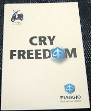 Advertising Automobile Piaggio Cry Freedom - posted 2001