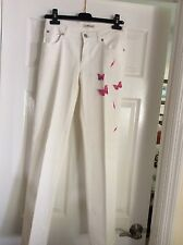 Blumarine White Women's Jeans With Pink Butterfly Appliqués I 38 d 32