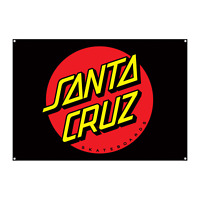"Santa Cruz Skateboard Banner Dot Flag Black 32"" x 46"""