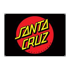 "Santa Cruz Skateboard Banner Dot Flag Black 32"" x 46"""
