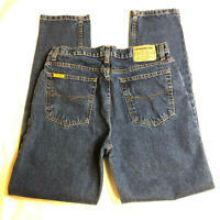 Jordache Vintage 90's High Rise Mom Tapered Jeans, Dark Blue Stone Wash, 15/16