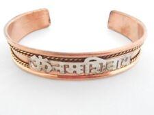 Hindu Om Namah Shivaya Copper Spiritual Chant Mantra Therapy Yoga Cuff Bracelet