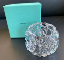 TIFFANY CRYSTAL GLASS VOTIVE CANDLE HOLDER WITH BOX - NEW & UNUSED