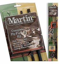 Martin 8 Ft Fly Fishing Rod Reel Combo Kit With Line Assorted 6 Custom Flies