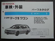 JDM TOYOTA MARK II Wagon Qualis Original Genuine Parts List Catalog MCV20 SXV20