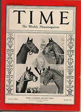 Time Magazine May 10, 1937 Derby Favorites And Matt Winn