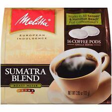 Melitta Soft Coffee Pods,100% Premium Quality Sumatra Blend, 16 Ct - FAST SHIP