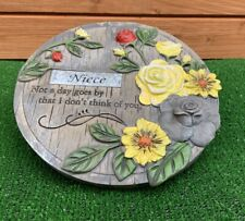 Memorial flower plaque for NIECE Grave cemetery memorial ornament mothers day