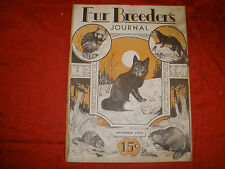 Fur Breeders Journal, Volume 1, Number 1, Oct. 1932