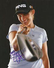 Angela Stanford signiert LpGA Golf 8x10 #3 mit COA