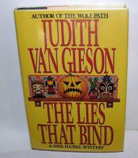 SIGNED MYSTERY FICTION BOOK Lies That Bind JUDITY VAN GIESON 1993 1st ED HC DJ