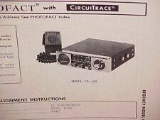 1975 REGENCY CB RADIO SERVICE SHOP MANUAL MODEL CR-185