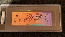1984 signed Olympics Ticket Card Michael Jordan Rookie Autograph Rare 1/1 Auto