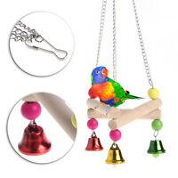 Pet Bird Parrot Parakeet Budgie Cockatiel Wood Hammock Swing Stand Hanging Toys
