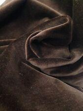 Designer Curtain Fabric Prestigious Rich Chocolate Cotton Velvet 10 Metre Roll