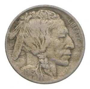 FIRST YEAR - 1913 Type 1 Buffalo Indian Head Nickel *891