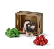Mini pig with apples 42292 tough strong Schleich Anywheres  Playground