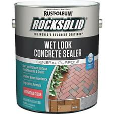 2 Pk Rust-Oleum 1 Gal Clear RockSolid Wet Look Concrete Driveway Sealer 317927