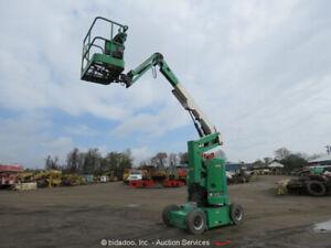 2012 JLG E300AJ 30' Electric Boom Lift Man Aerial Platform Hydraulic Jib bidadoo