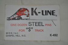S Gauge American Flyer Steel Track Pins NEW IN PACKAGE 1 DOZEN K Line K-492