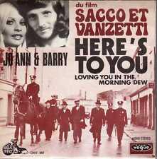 "disco 45 GIRI JO ANN & BARRY ""SACCO VANZETTI"" HERE'S TO YOU -LOVING YOU IN THE.."