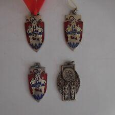 N2746 4 médailles athlétisme cross-country Jeux Olympiques JO 1980 XXe PN France