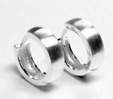 Unisex Ohrschmuck ohne Steine im Creole-Stil aus echtem Edelmetall