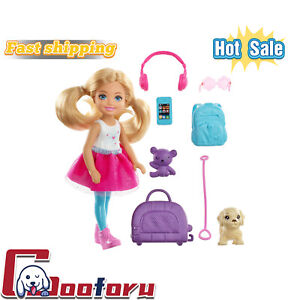 🌟Barbie Chelsea Doll & Travel Set with Puppy & Accessories🌟(🇺🇸 stock)