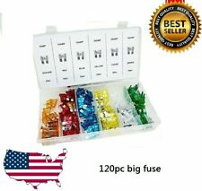 New 120pc Blade Fuse Assortment Auto Car Truck Motorcycle FUSES Kit ATC ATO ATM