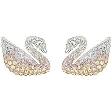 Swarovski Iconic Swan Pierced Earrings Pearl Large Crystal 5215037
